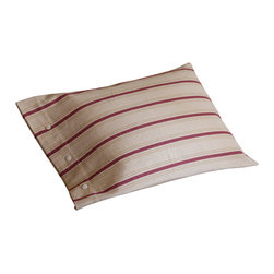 Taylor Linens - Homespun Pillowcase - Add a touch of homespun charm to your bedroom or guest room with this country-style pillowcase. Classic stripes animate a swathe of oatmeal-colored cotton, which is finished at the edge with tidy button closures. Sold individually, these pillowcases are a welcome dose of instant comfort.