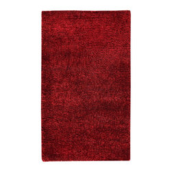 MA Trading - Contemporary Malibu 5'x8' Rectangle Red Area Rug - The Malibu area rug Collection offers an affordable assortment of Contemporary stylings. Malibu features a blend of natural Red color. Handmade of 60% Wool  20% Cotton  20% Polyester the Malibu Collection is an intriguing compliment to any decor.
