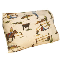Sweet Jojo Designs - Wild West Cowboy Horse Print Sheet Set - The Wild West Cowboy Horse Print Sheet Set is the perfect accessory for your Sweet Jojo Designs Bedding Set. This set is made of 100% cotton and is machine washable for easy care.