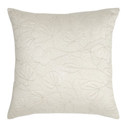 None - Modern Living Oxidized Leaf Quilted Euro Sham - The Modern Living Oxidized Leaf Quilted Euro Sham provides understated elegance,in a rich cream with gold floral stitching The Euro Sham is designed to complement the Oxidized Leaf Comforter Set.