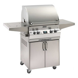 Fire Magic A540s Portable Gas Grill - Fire Magic Aurora Portable Gas Grill Model A540s With Rotisserie And Side Burner