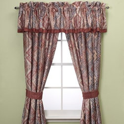 J. Queen New York - J. Queen New York Kilham 84-Inch Window Curtain Panel Pair - Style your windows in the spirit of the southwest with these beautiful window treatments. Gorgeous shades of rust, blue, gold and natural combine to create a classic rustic design with modern appeal.