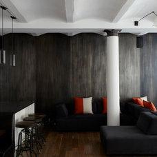 Contemporary Family Room by SchappacherWhite Architecture D.P.C.