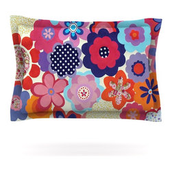 "Kess InHouse - Louise Machado ""Patchwork Flowers"" Pillow Sham (Cotton, 30"" x 20"") - Pairing your already chic duvet cover with playful pillow shams is the perfect way to tie your bedroom together. There are endless possibilities to feed your artistic palette with these imaginative pillow shams. It will looks so elegant you won't want ruin the masterpiece you have created when you go to bed. Not only are these pillow shams nice to look at they are also made from a high quality cotton blend. They are so soft that they will elevate your sleep up to level that is beyond Cloud 9. We always print our goods with the highest quality printing process in order to maintain the integrity of the art that you are adeptly displaying. This means that you won't have to worry about your art fading or your sham loosing it's freshness."