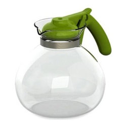 Primula - Primula 2-Quart Glass Stovetop Whistling Kettle - Classic tea kettle has modern appeal. It features shock-resistant borosilicate glass, which allows the kettle to go from cold to hot without risk of cracking.