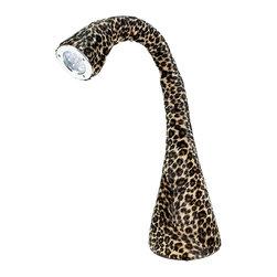 "Lumisource - Nessie Table Lamp, Leopard - 5"" Diam. x 24"" H"