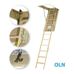 Fakro - LWN (OLN) 22 1/2x47 Wooden Basic Attic Ladder 25... - LWN (OLN) 22 1/2x47 Wooden Basic Attic Ladder 25...