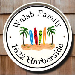 Surfboard Cottage House Plaques - To find out more and how to order click here: