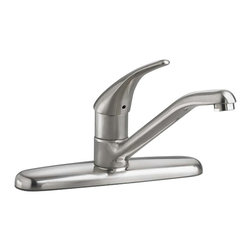 American Standard - American Standard 4175.500.075 Colony Kitchen Faucet, Stainless Steel - This American Standard 4175.500.075 Colony Soft Single Control Kitchen Faucet is part of the Colony collection, and comes in a beautiful Stainless Steel finish. This single-control kitchen faucet features a ceramic disc valve for drip-free performance, a durable cast brass waterway, and a limited lifetime warranty on the function and finish.