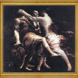 "Giuseppe Maria Crespi-16""x16"" Framed Canvas - 16"" x 16"" Giuseppe Maria Crespi Hecuba Blinding Polymnestor framed premium canvas print reproduced to meet museum quality standards. Our museum quality canvas prints are produced using high-precision print technology for a more accurate reproduction printed on high quality canvas with fade-resistant, archival inks. Our progressive business model allows us to offer works of art to you at the best wholesale pricing, significantly less than art gallery prices, affordable to all. This artwork is hand stretched onto wooden stretcher bars, then mounted into our 3"" wide gold finish frame with black panel by one of our expert framers. Our framed canvas print comes with hardware, ready to hang on your wall.  We present a comprehensive collection of exceptional canvas art reproductions by Giuseppe Maria Crespi."