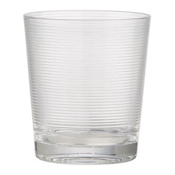 Ridged Acrylic Double Old-Fashioned Glass - Eye-catching ridged design textures tapered acrylic barware with the look of glass.