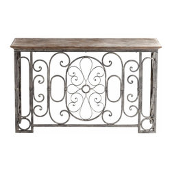 Rustic Antique Grey Console Table - *Nixie Console Table
