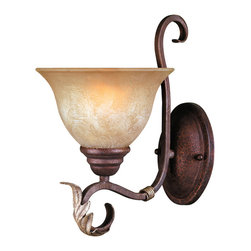 World Imports - World Imports 2622-24 Olympus Tradition Crackled Bronze Wall Sconce - World Imports 2622-24 Olympus Tradition Bronze Wall Sconce