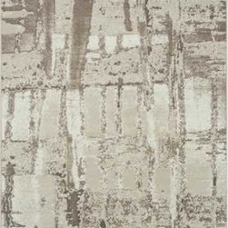 """Dynamic Rugs - Dynamic Rugs Mysterio 1205-120 (Beige) 6'7"""" x 9'6"""" Rug - Colorations in this new collection features the interlacing of metallic tones, from pewter to lighter silver, and natural shades of browns, beiges and Ivory in transitional designs to complement today's modern, high fashion looks in home decoration. The rugs are power woven in Belgium with a dense heat set polypropylene pile. In the construction random double pointing density and drop stitch weaving techniques are used to create lovely textured finishes which are evident both visually and to the touch."""