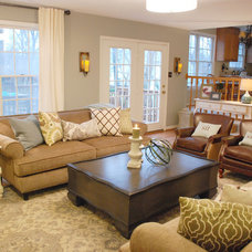 Transitional Family Room by The Suite Shoppe Interiors