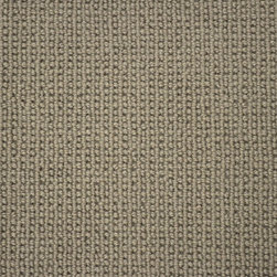 The Carpet Workroom & Reclamation Center - Woven Synthetic Carpet Remnant with Stripe Pattern - This woven synthetic carpet remnant is green and grey with a stripe pattern. This synthetic carpet remnant can be fabricated into a custom area rug, or installed as a stair runner.