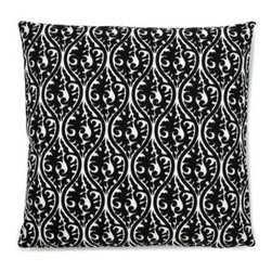 5 Surry Lane - Black Kimono Damask Pillow - Work this subtle pattern into your living room or bedroom for a quick shot of sophistication. Mix and match it with a collection of black and white throws or let it stand alone as a bold accent piece. Either way, you're going to love this sharp look.