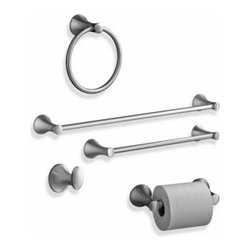 Kohler - Kohler Coralais Brushed Nickel Towel Ring - Effortless form and simplified detail are the essential attributes of Kohler's Coralais accessories, which complement just about any bathroom decor. The premium metal construction ensures durability and reliability.