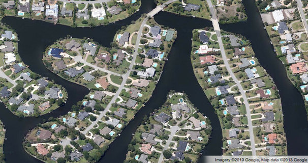 Traditional  America's Housing Patterns from Above