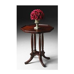 Butler - Octagon Accent Table - Plantation Cherry Stained Finish - Selected solid woods and choice cherry veneers