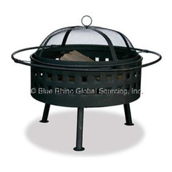 "Blue Rhino - UF32inLttcFirebowlOilRbbdBrnz - Uniflame WAD997SP 24"" Wide Aged Bronze Firebowl with Lattice Design  This item cannot be shipped to APO/FPO addresses."