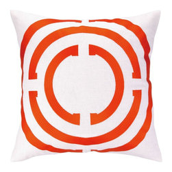 COCOCOZY - COCOCOZY Light Embroidered Pillow-Orange - Orange Light Embroidered Pillow by COCOCOZY.