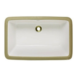 PolarisSinks - Polaris P2181UB Bisque Undermount Porcelain Bathroom Sink - Our extensive line of porcelain sinks will compliment any decor from the traditional to the unique. Our porcelain sinks are true vitreous China with a triple laid glaze to create the strongest sink you will find. Our porcelain sinks are extremely low maintenance. Our porcelain sinks are covered by a limited lifetime warranty. Each comes with a cardboard cutout template and mounting hardware.