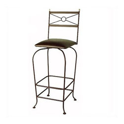 "Grace - Classico Bar Stool - Borrowing from the neoclassic style, this bar stool has a casual look and features finials on its seat back. This stool is the perfect fit to the casual kitchen. Features: -Painted according to your choice of metal finish .-Ships fully assembled .-Finials on its seat back.-Dimensions: 16"" W x 19"" D x 50"" H .-Suited for Residential use only . About Grace Collection: Grace Manufacturing is a metal and wrought iron furniture manufacturing company located in Rome, GA. The company has been in business for 25 years and continues to employ skilled artisans and craftsmen. In addition to their state of the art manufacturing equipment they still assemble and finish many products by hand. Many items in the Grace Collection are fully hand made or hand painted. With products ranging from barstools, counter stools, and dinettes to wrought iron beds, hanging potracks, bakers racks and more, Graces line meets all professional and home needs. By implementing unique styles and ideas to traditional products, Grace has created an exceptional balance between creativity and practicality. Their design styles range somewhere between whimsical, neo classic and traditional, thus creating a truly astonishing decor for any inside space."