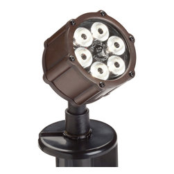 Kichler Accent LED - Bronzed Brass - Accent LED. This lighting outdoor LED accent light features die cast construction complete with a clear tempered glass lens and a coordinating bronzed brass finish that allow it to easily blend in with the surrounding landscape.