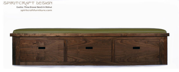 Modern Accent And Storage Benches by Spiritcraft Fine Furniture and Cabinet Makers