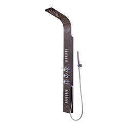 VIGO Industries - VIGO Shower Panel with Rain Head Massage System, Gunmetal - Enjoy a state of the art showering experience with this VIGO Shower Massage Panel with Rain Shower Head and Hand Held Shower.
