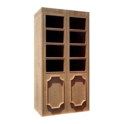 Vinotemp - VINO-700EMPIRE Empire 700-Model Wine Cabinet With 2 Doors  Eight Dual-Paned Ther - The stunning Vinotemp Empire 700 stands out with its eight dual paned thermal glass windows and custom door design It comes standard with heavy duty insulation 1 16 R factor on walls and doors