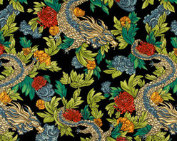 Ming Dragon Fabric, Admiral - This is my absolute favorite fabric right now. It's the perfect twist of modern and traditional chinoiserie.