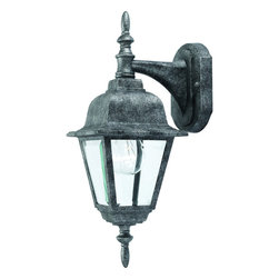 Hardware House - Antique Silver Outdoor Patio / Porch Exterior Light Fixture - Finish: Antique Silver
