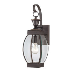 Quoizel - Quoizel Medici Bronze Exterior - SKU: OAS8406ZFL - This transitional collection complements many architectural styles and gives the exterior of your home both beauty and a sense of style. It has clean lines that allow the clear beveled glass to have optimum light output. The Medici Bronze finish completes the look of this series.