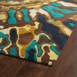 BRS04-40 - The artistic inspirations of the Brushstrokes collection finally brings you a true piece of art for your floor! Beautiful hand-painted designs accentuated from a smooth and steady motion, this assortment features a unique spotlight of fantastic color combinations. Each rug is perfectly executed and detailed in this 100% wool, hand-tufted rug made in India.