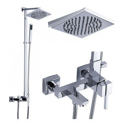 JollyHome - JollyHome Excellent Square Single Handle Tub Faucets - Complete parts and all install fittings are included.Water pressure tested for industry standard.Easy to keep clean and maintain.Ceramic valve core