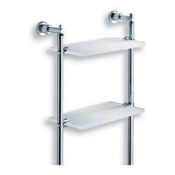 Lacava Dodo Metal and Glass Bathroom Wall Shelf