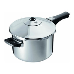 Kuhn Rikon - Kuhn Rikon Duromatic 5-Quart Pressure Cooker - Quickly and healthfully cooks foods under steam pressure with little liquid in this 5 quart pressure cooker from Kuhn Rikon.