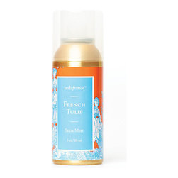 Frontgate - Seda France French Tulip Toile Room Mist - 3 oz. room mist. French Tulip will transport you to an open air flower market in Paris, with blends of jasmine, rose, lemon, clove, sage and rosewood for a complex green note. Stainless steel aerosol can. Easy to use and no messy nozzles. Made in the USA. Give any room an instant lift with a fresh, vibrant fragrance. The Seda France Room Mist allows you to spread your favorite scent all over the home with a simple press of a button. Now in a rich, golden-colored can, it makes a lovely gift even without wrapping paper. .  . . . .