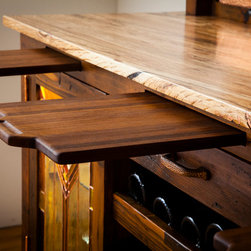Wine Sideboard - This sideboard includes 3 removable cutting boards (2 small, 1 large) for wine and cheese pairing or food service.