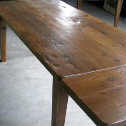 Very Rustic Barn Wood Farm Table - Made by www.ecustomfinishes.com