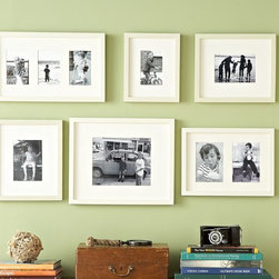 Gallery in a Box, Modern White Frames, Set of 6 - My husband and I are going to put up our first (ever!) gallery wall right above the desk. I can't wait to fill the frames with photos and art that are really meaningful to us.
