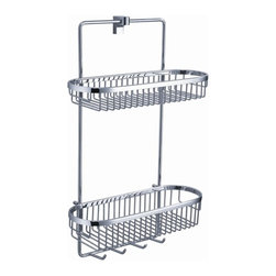 Fresca - Fresca Generoso 2 Tier Bathroom Wire Basket - All our bathroom accessories are imported and are selected for their modern, cutting edge designs. All accessories are made with brass with a quadruple chrome finish. All our accessories have been chosen to complement our other line of products including our vanities, steam showers, whirlpools, and toilets.