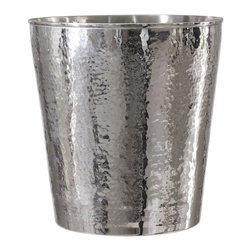 Hammered Nickel Wastebasket - I always forget that I'll need a trash bin until I need to throw something away. So this time I'm being intentional and hunting for really attractive trash bins. This one is small but perfectly sized for a visible under-desk area.
