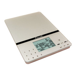 Escali - Escali Digital Scale Cesto Silver Gray - For those on a particularly strict diet, this handsome digital scale is a must-have. Measure and weigh your foods precisely, while also being able to check all the other pertinent stats like calories, cholesterol levels and so much more. A dieter's dream.