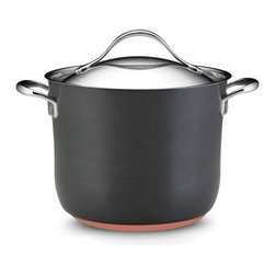 Anolon Nouvelle Copper 8 qt. Covered Stockpot - It's more fun to cook when you have quality pots and pans. The Anolon Nouvelle Copper 8 Quart Covered Stockpot uses the power of copper for unmatched heat distribution and cooking performance. With its tight-fitting stainless steel lid, double loop handles, and ability to withstand oven heat up to 500 degrees, this stockpot will have you clamoring for new recipes to test.About Anolon CookwareFor those who think recipes are more like suggestions, meet Anolon - a leading brand of gourmet cookware designed to empower food enthusiasts to creatively express themselves in the kitchen. Anolon gives home cooks the ability to cook outside the recipe by offering a wide selection of high-performance, exceptionally crafted cookware, bakeware, cutlery, tools and gadgets that satisfy the needs of each home chef's unique cooking style. Celebrate creativity in the kitchen with Anolon.