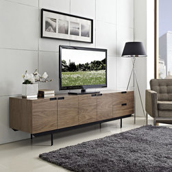 Modway - Modway 'Herald' Modern Sideboard - The minimalist design carefully gathers together your silverware,dishes and other dining room finery,while the outside appearance presents a unified whole. Herald is waist level to allow for easy food storing and serving.