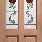 Doors by ABL Doors - The simple, stained glass style on this Hardwood Rich Keats door from ABL Doors lets you walk into home greeted by a vision of nature all the time. This door is available from the online ABL Doors & Windows store in a multitude of sizes.