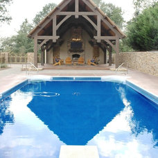 Traditional Pool by Homestead Timber Frames